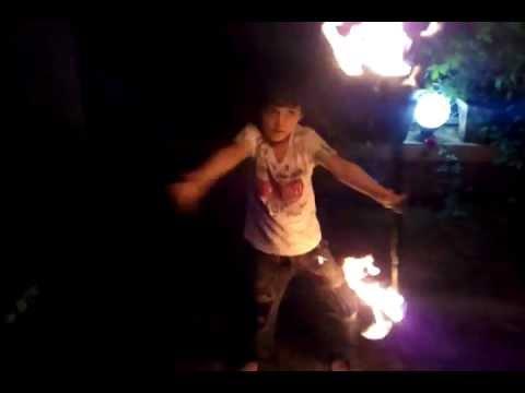 mihir soni's fire dance practice