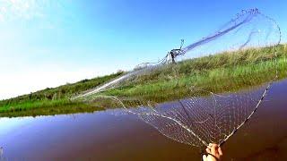 УДАЧНАЯ РЫБАЛКА НА КАСТИНГОВУЮ СЕТЬ CASTING NET FISHING