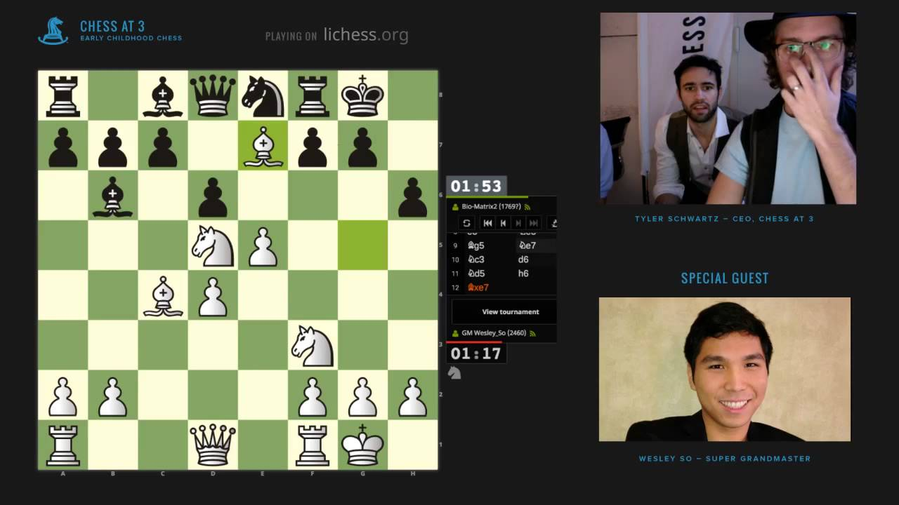 Wesley So faces highest rated tournament ever on lichess org