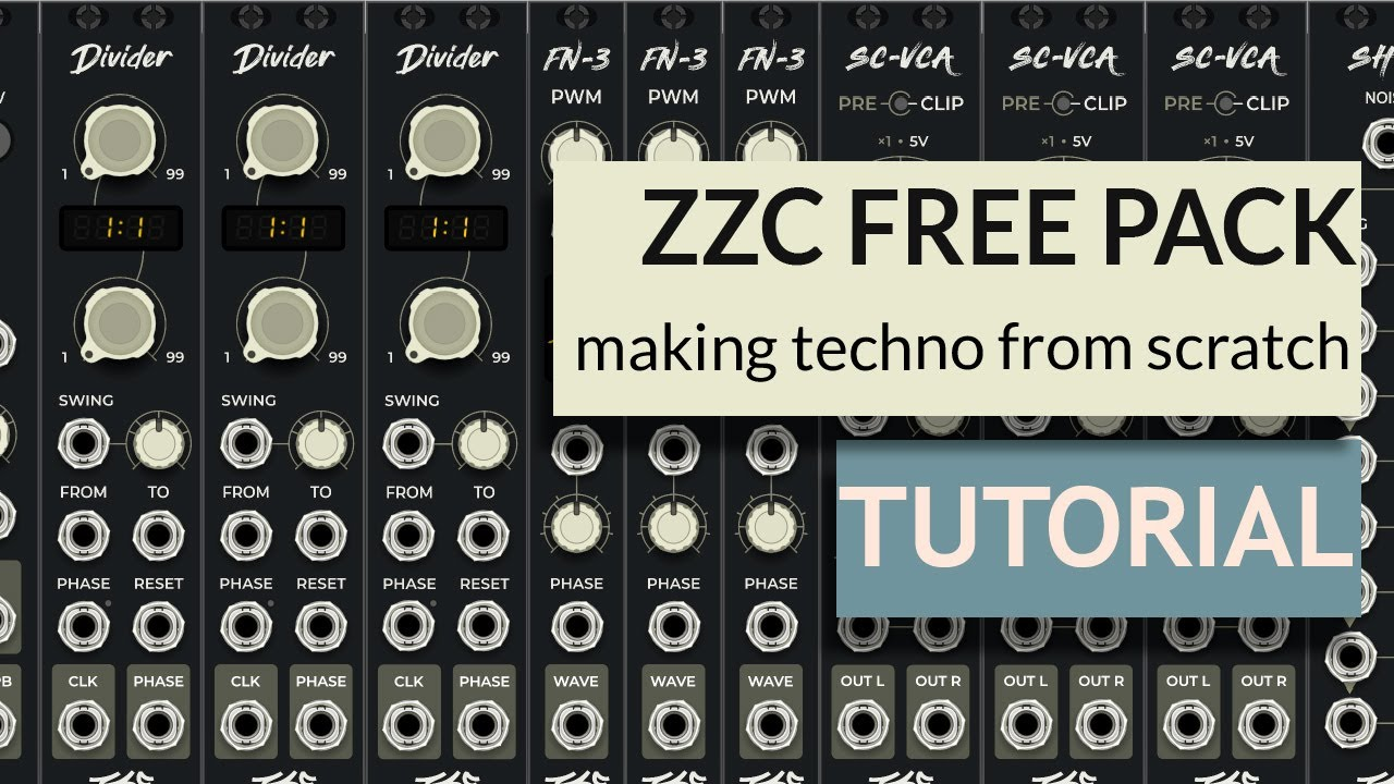 Making techno with new FREE ZZC plugins in VCV Rack