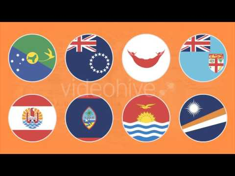 Flat Flag Icons Oceania Countries