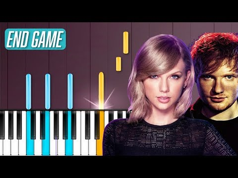 """Taylor Swift - """"End Game"""" Ft Ed Sheeran Piano Tutorial - Chords - How To Play - Cover"""