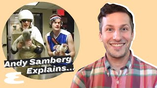 Andy Samberg Reacts to Andy Samberg on SNL, TikTok & More | Explain This | Esquire
