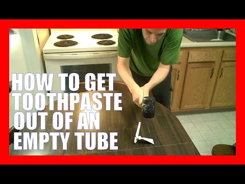 How To Get Toothpaste Out Of An Empty Tube