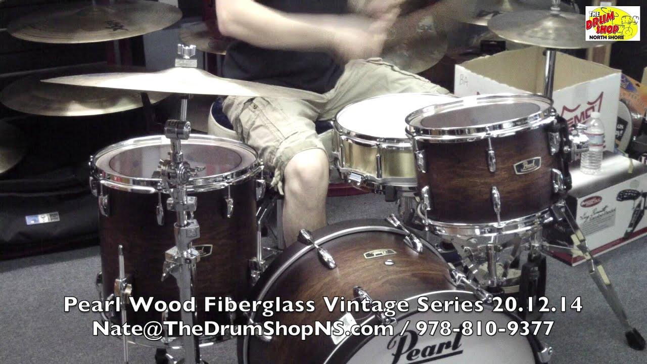 Pearl Wood Fiberglass Vintage Series  Satin Cocoa Burst  201214  The  Drum Shop North Shore