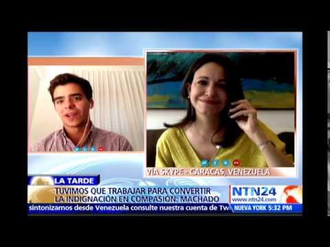 Conmovedor mensaje en NTN24 del hijo de María Corina Machado a la opositora este Día de la Madre
