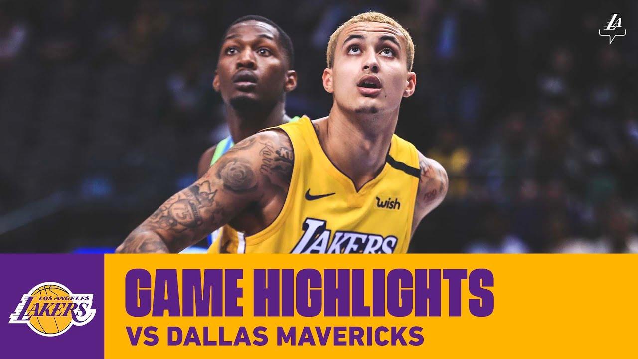 Highlights Kyle Kuzma 26 Pts 6 Reb 2 Ast At Dallas Mavericks