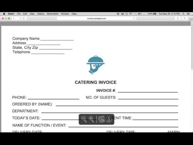 Free Catering Service Invoice Template | Excel | PDF | Word (.doc)