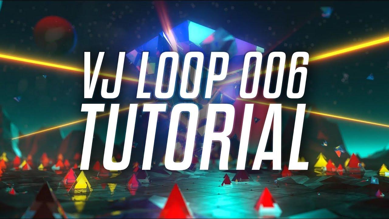 VJ LOOP 006 - Tutorial/Breakdown (Cinema 4D, After Effects)