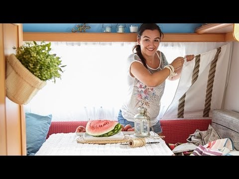 Small space makeover: Catarina's textile-filled caravan