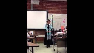 Sine as Lucretia Mott