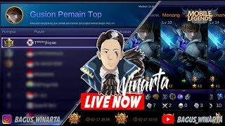 TOP 1 GUSION KALIMANTAN TENGAH // MMR 3450++ ROAD GLOBAL ~ Mobile Legends