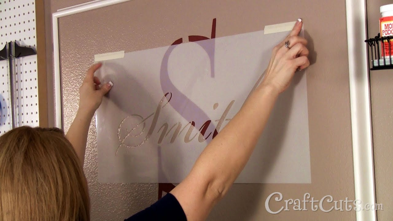 How to stencil a monogram on a wall youtube amipublicfo Gallery