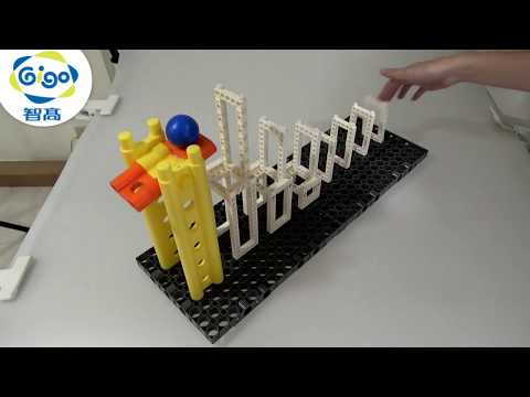 Gigo Construction Set #1249R LEARNING LAB 3.U-shaped Track 4.Rising Dominos  Product