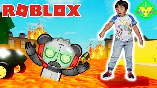 RYAN PLAYS FLOOR IS LAVA on ROBLOX against ROBO COMBO ! Let's Play