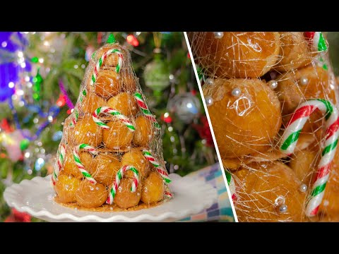 КРОКЕМБУШ | французский десерт КРОКЕНБУШ | праздничный торт | новогодний рецепт Croquembouche