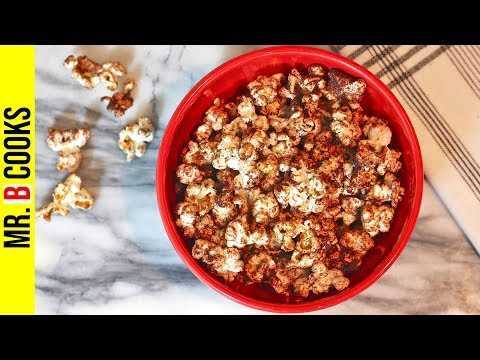 Chocolate Popcorn Recipe With Cocoa Powder | How to Make Chocolate Popcorn | Easy Snack Recipes