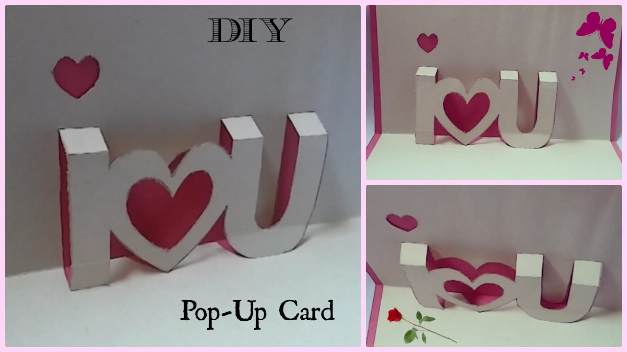 Diy I You Pop Up Card Valentine S Day Gift Ideas Youtube