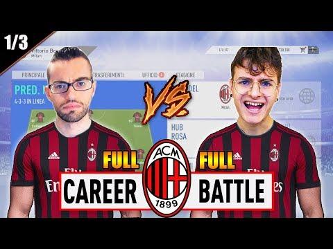 1 VS 1 - FULL CAREER BATTLE CHALLENGE con il MILAN! EPISODIO 1/3 | FIFA 19 CARRIERA ALLENATORE MILAN