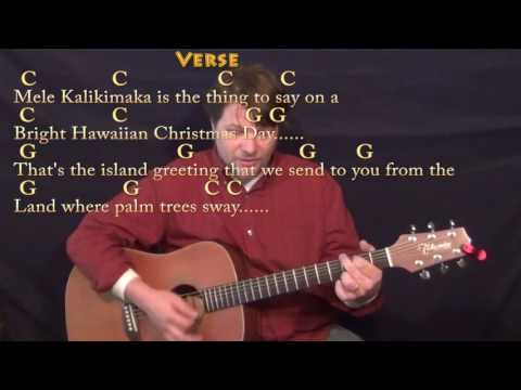 Mele Kalikimaka (Christmas) Country Guitar Cover Lesson in C with Chords/Lyrics