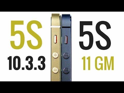 iPhone 5S iOS 10.3.3 vs iPhone 5S iOS 11 Golden Master!