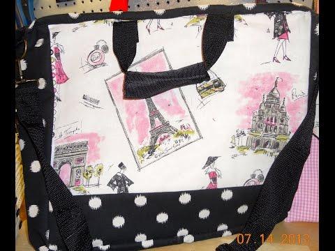 Fabric briefcase or Crop bag