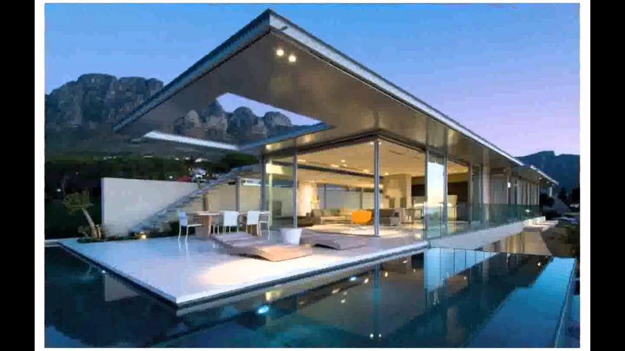 Modern pool house youtube - Modern house with pool ...