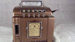 1930s Rockola Hold and Draw SLot Machine Trade Stimulator and Gum Vendor