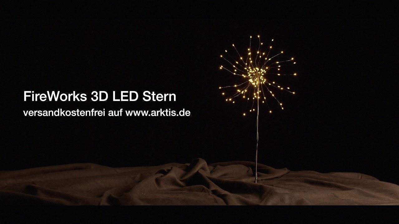 Weihnachtsdeko Led Stern.Gadget Tipp Fireworks 3d Led Stern Leuchtende Weihnachtsdeko