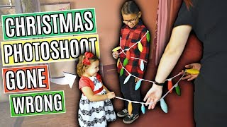 CHRISTMAS PHOTOSHOOT GONE WRONG! TERRIBLE TWOS IN ACTION!