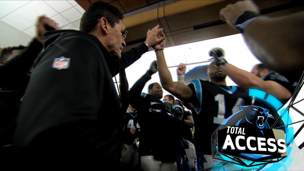 Panthers Post Game Locker Room
