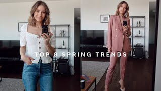 SPRING FASHION TRENDS 2019 + OUTFIT IDEAS | ARITZIA SPRING HAUL + GIVEAWAY | JILLIAN LANSKY