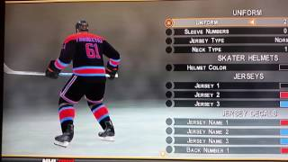 My customize NHL All-Star team from NHL 2K8