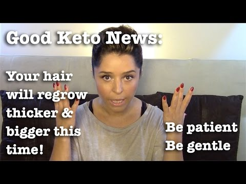 Good news: your hair is renewing! Hair loss caused by diet change.