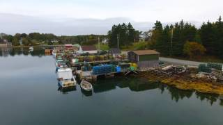 4 K - Boats at Rest. Scotia Droning