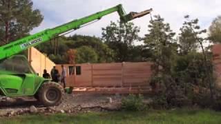 Montage d'un chalet Solaire Box au camping des Rives du Lac