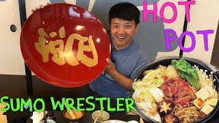 SUMO Wrestler Food! Hot Pot With Meatballs in Tokyo Japan