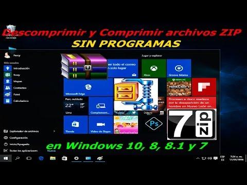 descomprimir y comprimir archivos ZIP sin programas en windows 10, 8, 8.1 y 7
