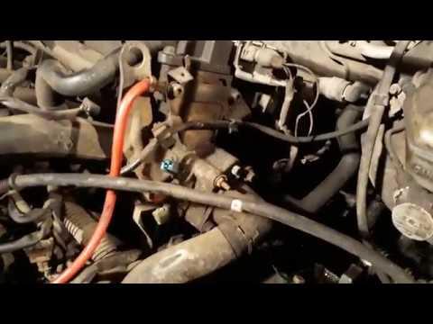Замена термостата Пежо 406 LFY Thermostat replacement Peugeot 406