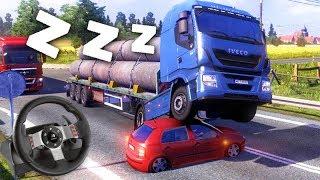 DORMI NO VOLANTE!!! (DEU RUIM) - Euro Truck Simulator 2 + G27