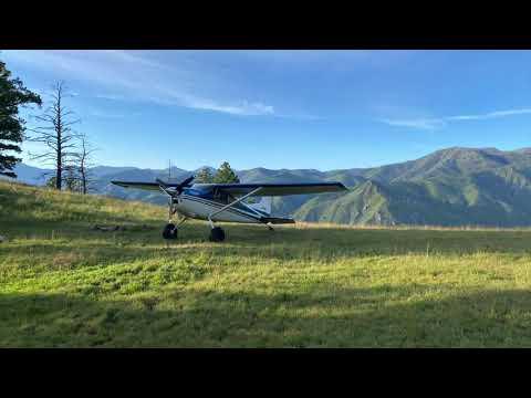 Mile Hi Airstrip Cessna 185 Idaho Backcountry