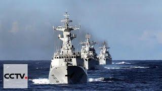 سفن حربية صينية روسية تغادر جزر دياويوي