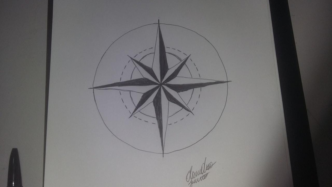 como desenhar uma rosa do vento para tatuagem passo a passo youtube