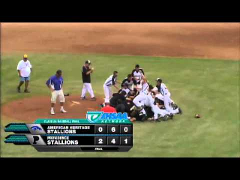 The Providence School wins the FHSAA class 3A baseball championship on a 4-6-3 double play