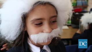 Berkeley elementary, middle school students set record for most Einstein look-alikes