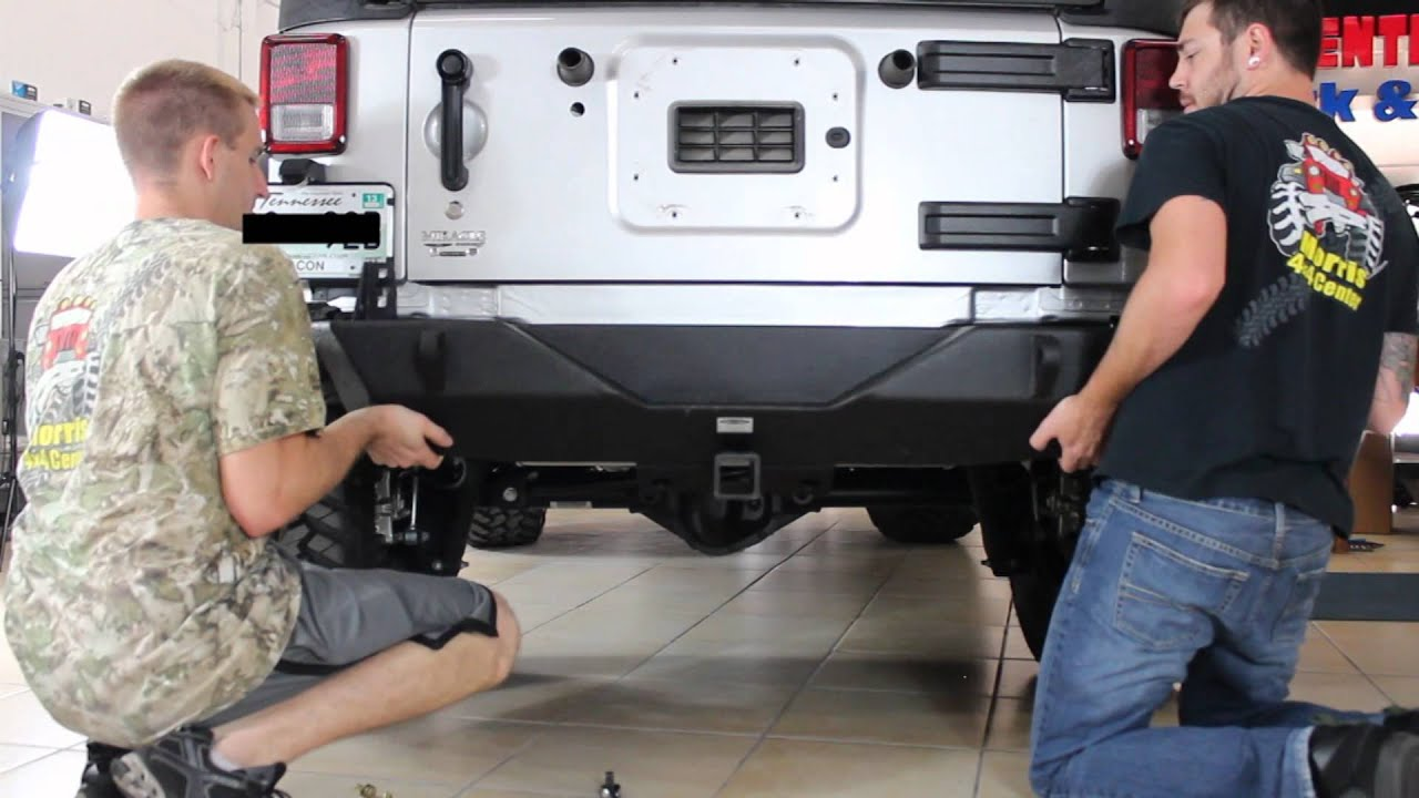 Morris 4x4 Center Smitybilt Rear Bumper Installation Youtube