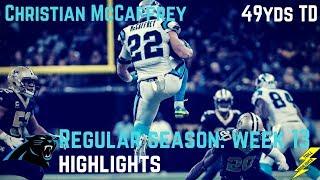 Christian McCaffrey Week 13 Regular Season Highlights | 12/03/2017