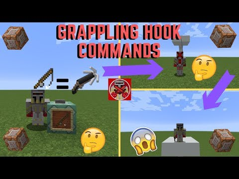 Command Block Tutorial #33: Grappling Hook Commands In Minecraft (1.13+)