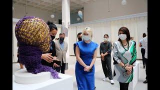 Rektör Özkan, Heykel Bölümü Sergisinin açılışını gerçekleştirdi