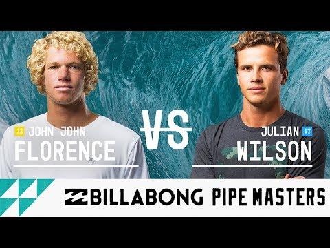 John John Florence vs. Julian Wilson - Quarterfinals, Heat 2 - Billabong Pipe Masters 2017